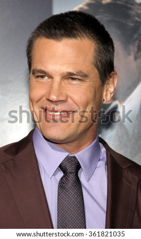 "Josh Brolin at the Los Angeles premiere of ""Gangster Squad"" held at the Grauman's Chinese Theatre in Los Angeles, USA on January 7, 2013. - stock photo"