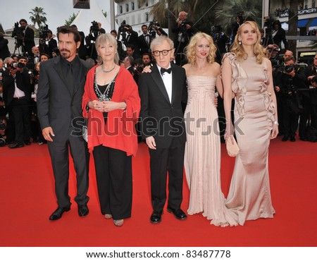 "Josh Brolin, Gemma Jones, Woody Allen, Naomi Watts & Lucy Punch, the premiere of ""You Will Meet A Tall Dark Stranger"" at the 63rd Festival de Cannes. 5-15-10 Cannes, France By: Paul Smith/Featureflash"
