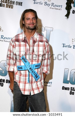 Josh Holloway star of the hit NBC TV show LOST. Filmed on location in Hawaii. - stock photo