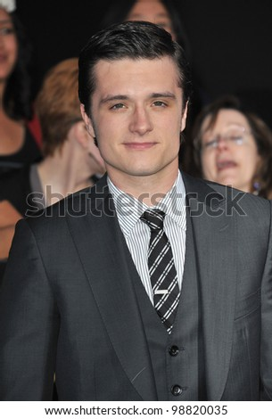 "Josh Hutcherson at the world premiere of his new movie ""The Hunger Games"" at the Nokia Theatre L.A. Live. March 12, 2012  Los Angeles, CA Picture: Paul Smith / Featureflash"
