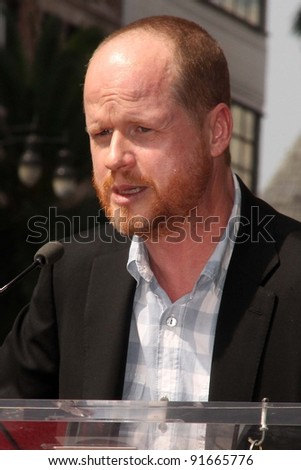 Joss Whedon at trhe Neil Patrick Harris Hollywood Walk of Fame Star Ceremony, Hollywood, CA. 09-15-11 - stock photo