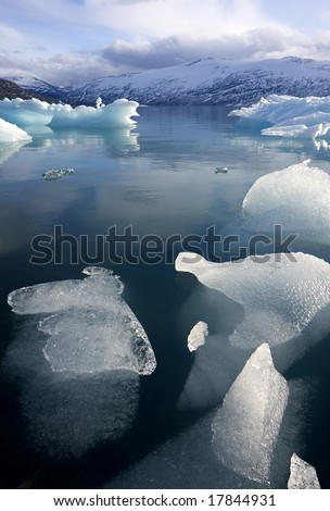Jostedalsbreen glacier landscape - Norway - stock photo