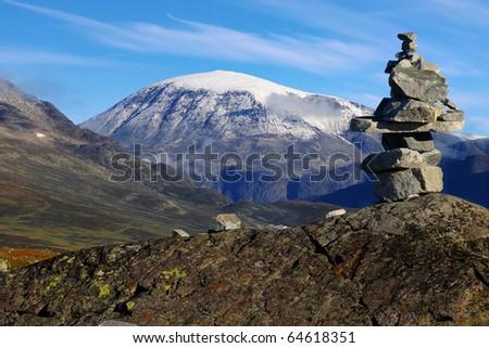 Jotunheimen National Park. Mountain landscape.  Norway - stock photo