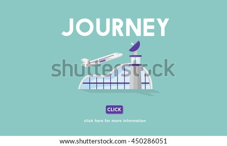 Journey Business Trip Flights Travel Information Concept - stock photo