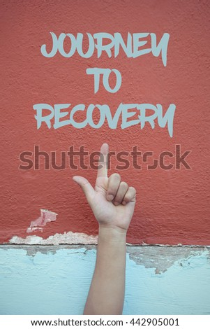 Journey To Recovery. - stock photo