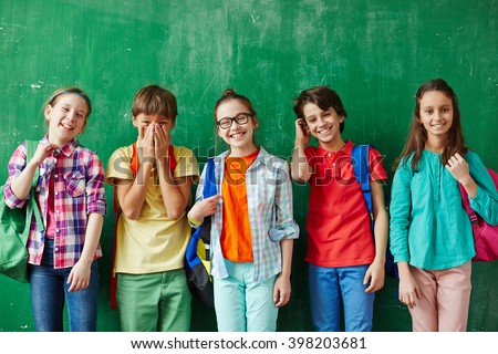 Joyful kids - stock photo