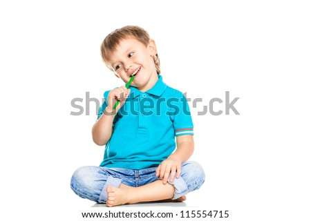 joyful little boy - stock photo
