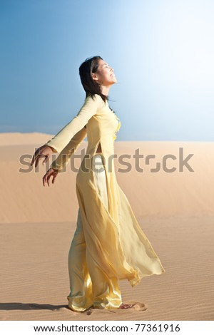 Joyous young woman - stock photo