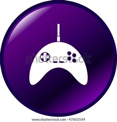 joypad game controller button - stock photo