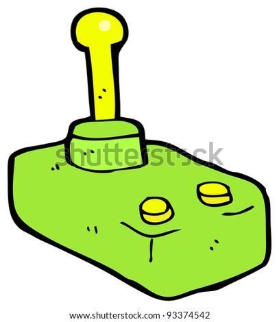 joystick cartoon (raster version) - stock photo