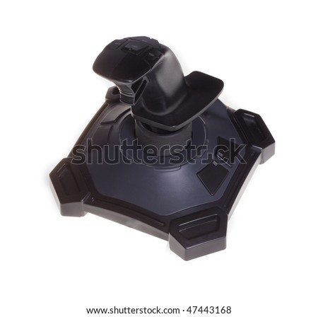 Joystick. Isolated on a white background - stock photo
