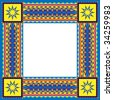 Jpeg background frame with southwestern design - stock vector