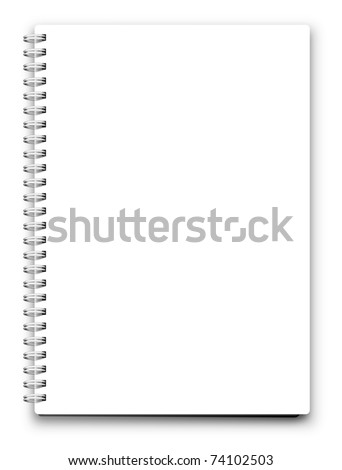 jpeg blank notebook isolated on white. jpg - stock photo