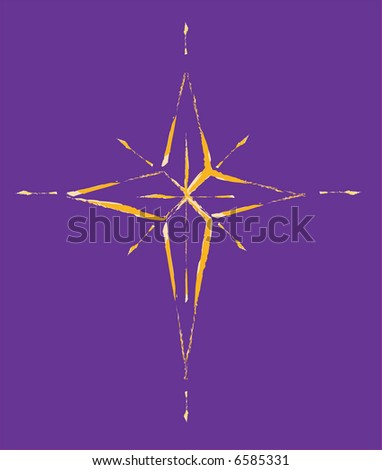 JPEG Christmas Star, Natal Star the 3 wisemen followed - stock photo