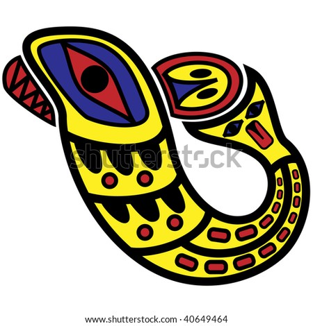 jpeg design in pacific northwest native style. - stock photo