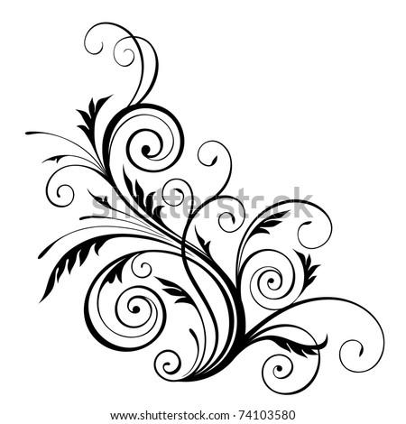 jpeg  floral design element. jpg - stock photo