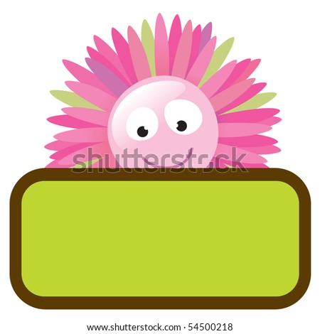 JPEG flower with sign (add your own message) - stock photo