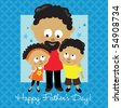 JPEG Happy Father's Day (African American) - stock photo