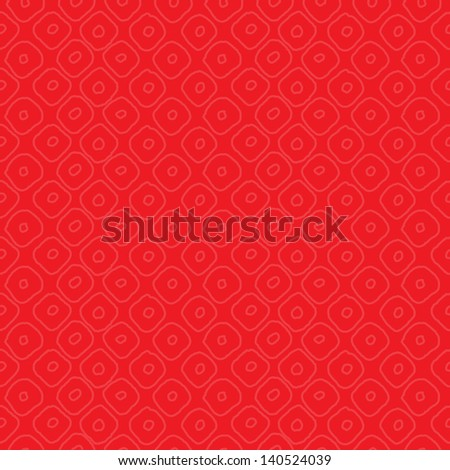 JPEG seamless background pattern with subtle red and orange circles. Good for Christmas, Greeting Cards, Scrapbook, Surface Textures. See my portfolio for matching patterns and for vector version. - stock photo
