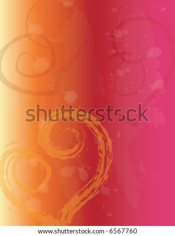 JPEG Valentine Hearts background-Painterly, grunge style - stock photo