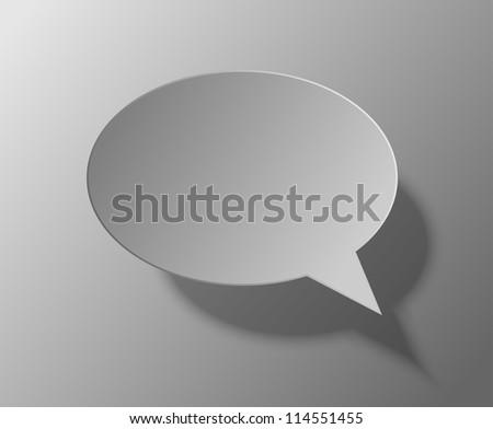Jpeg version.  bubble speech on gray background - stock photo