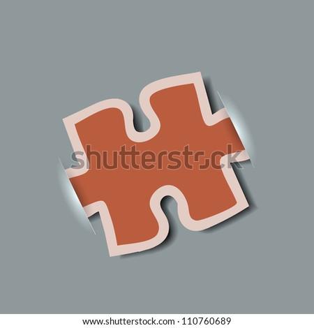 Jpeg version. creative computer puzzle background - stock photo