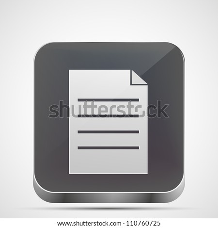 Jpeg version. file app icon - stock photo