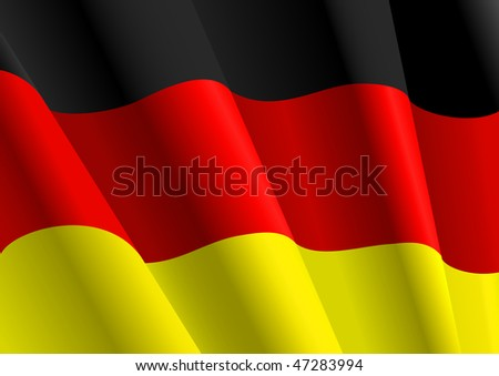 Jpeg version. Flag of Germany for design as a background or texture. Vector version is also available