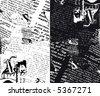 JPEG version. Grunge newspaper. - stock vector