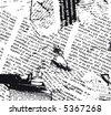 JPEG version. Grunge newspaper b&w. - stock vector