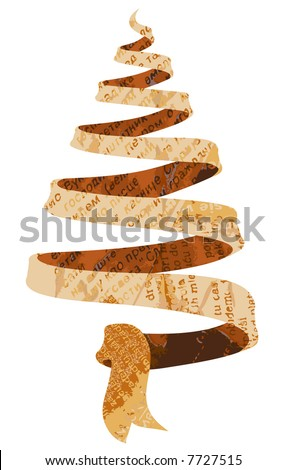 Jpeg version. Newspaper Christmas tree - stock photo