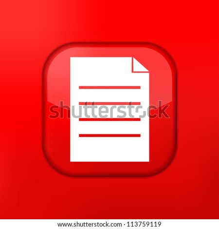 Jpeg version.  Page icon. - stock photo