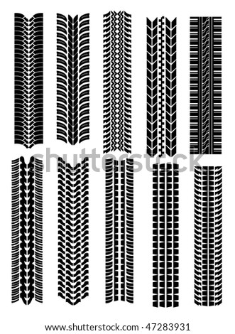 Jpeg version. Set of tire shapes isolated on white for design. Vector version is also available - stock photo