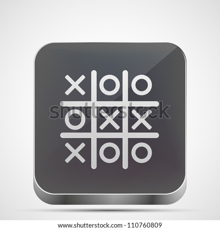 Jpeg version. Tic tac toe app icon - stock photo