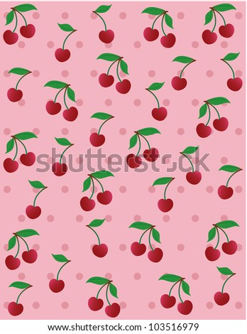 JPG Cherry background - stock photo