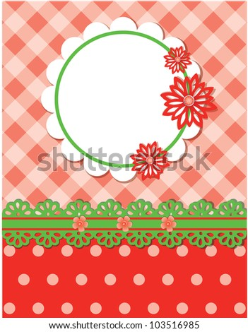 JPG Cute floral background - stock photo