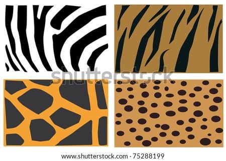 JPG detail illustration of animals fur pattern. - stock photo