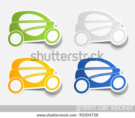jpg, eco car, realistic design elements
