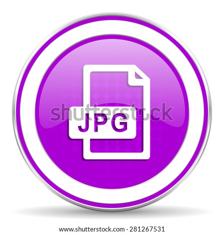 jpg file violet icon 