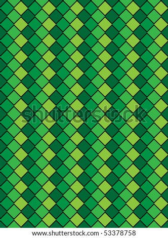 Jpg, green variegated diamond snake style wallpaper texture pattern. - stock photo