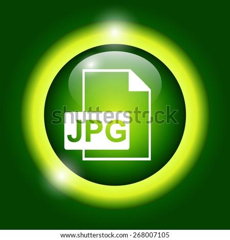 Jpg icon file . Flat - stock photo
