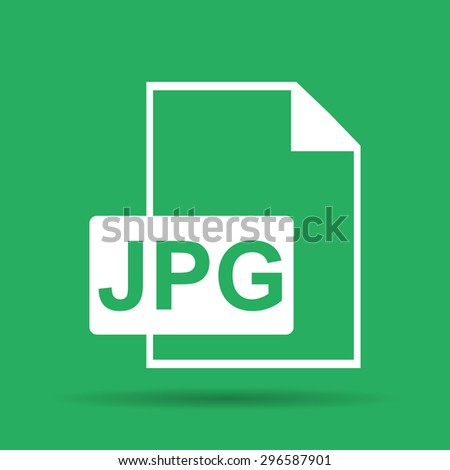 Jpg icon file . Flat  - stock photo
