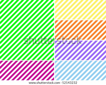 Jpg.  Seamless, continuous, diagonal striped background in six spring colors.