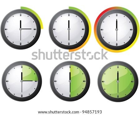 JPG Timer icon set - stock photo
