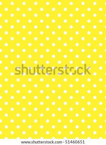Jpg.  Yellow background with white polka dots. - stock photo