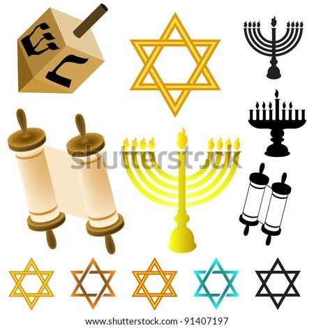 Judaism Symbols Stock Illustration 91407197 Shutterstock