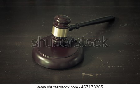 Judge gavel. - stock photo