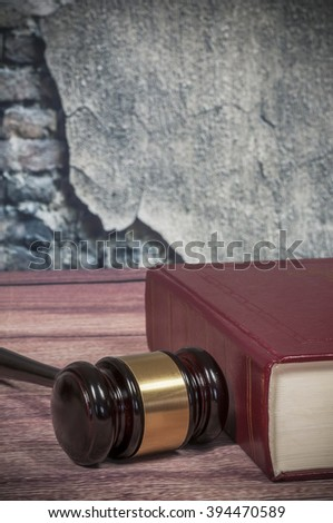 judge gavel and book  - stock photo