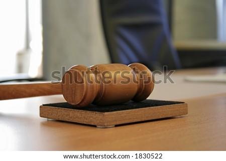 judge hammer - stock photo