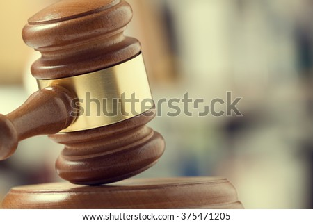 judge's gavel - stock photo